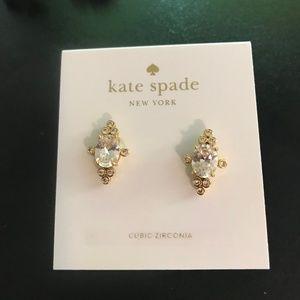 kate spade new york Gold-Tone Stone Oval Stud
